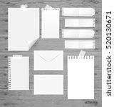 blank white paper  note paper ... | Shutterstock .eps vector #520130671