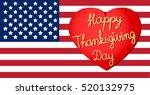 flag.happy thanksgiving... | Shutterstock .eps vector #520132975