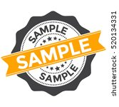 sample badge  stamp  label with ... | Shutterstock .eps vector #520134331