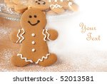 smiling gingerbread man with... | Shutterstock . vector #52013581