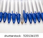 Blue Ballpoint Pens Capped Wit...