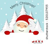 christmas greeting card with... | Shutterstock .eps vector #520137955