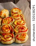 Rolls Of Puff Pastry With Ham...