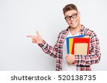 young smart happy student with... | Shutterstock . vector #520138735