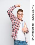 yes  happy student having an...   Shutterstock . vector #520138747