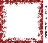 snowflake frame | Shutterstock .eps vector #520140037