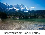 beautiful lake view to eibsee... | Shutterstock . vector #520142869