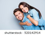 happy cheerful man carrying his ... | Shutterstock . vector #520142914