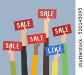 concept of big sale.... | Shutterstock .eps vector #520145095