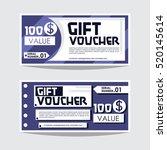 template voucher   Shutterstock .eps vector #520145614