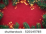 christmas background with xmas... | Shutterstock . vector #520145785