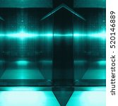 Small photo of Blue aluminum reflecting surface. Metallic geometric texture background