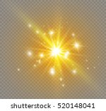glow light effect. star burst... | Shutterstock .eps vector #520148041