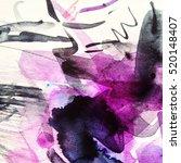 abstract watercolor art hand... | Shutterstock . vector #520148407