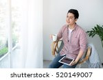 portrait of a smiling man... | Shutterstock . vector #520149007