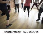 diversity people exercise class ... | Shutterstock . vector #520150045
