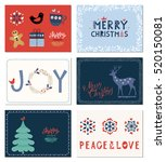 winter holidays greeting cards... | Shutterstock .eps vector #520150081