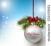 elegant shiny christmas... | Shutterstock .eps vector #520153051