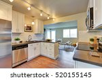 freshly remodeled kitchen room... | Shutterstock . vector #520155145