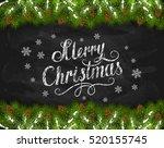 lettering merry christmas... | Shutterstock .eps vector #520155745