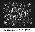lettering merry christmas... | Shutterstock .eps vector #520155751