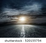country road at night with...   Shutterstock . vector #520155754