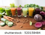 healthy eating  drinks  diet... | Shutterstock . vector #520158484