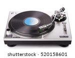 Vinyl Player With A Vinyl Disk...