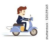 illustration happy birthday... | Shutterstock . vector #520159165