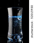 a water glass isolated on a... | Shutterstock . vector #52015930