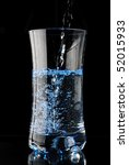 a water glass isolated on a... | Shutterstock . vector #52015933