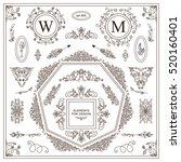 vector set of vintage elements... | Shutterstock .eps vector #520160401