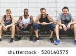 active people sport workout... | Shutterstock . vector #520160575