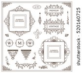vector set of vintage elements... | Shutterstock .eps vector #520160725