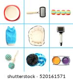Stock photo different cats accessories on white background 520161571