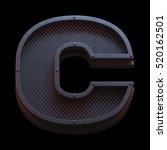 prison metal font. 3d rendering   Shutterstock . vector #520162501