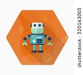 robot icon   vector flat long... | Shutterstock .eps vector #520163005
