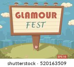 "billboard with ""glamour fest""..."