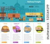 railway freight infographics... | Shutterstock .eps vector #520164199