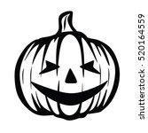 pumpkin halloween vector | Shutterstock .eps vector #520164559