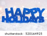 "greeting ""happy holidays"" is on ... 