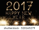 2017 New Year Font Made From...