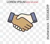 line icon    handshake   Shutterstock .eps vector #520168249