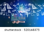 concept view of business on... | Shutterstock . vector #520168375