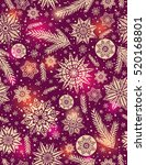red christmas seamless pattern... | Shutterstock .eps vector #520168801