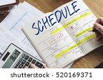 schedule activity calendar...   Shutterstock . vector #520169371