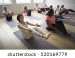 diversity people exercise class ... | Shutterstock . vector #520169779
