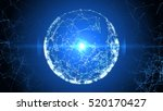 abstract sphere from connected... | Shutterstock . vector #520170427