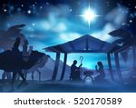 christmas christian nativity... | Shutterstock .eps vector #520170589