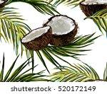 beautiful seamless vector... | Shutterstock .eps vector #520172149